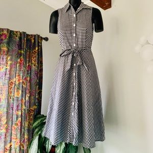 NorthStyle Gingham Style Midi Shirt Dress